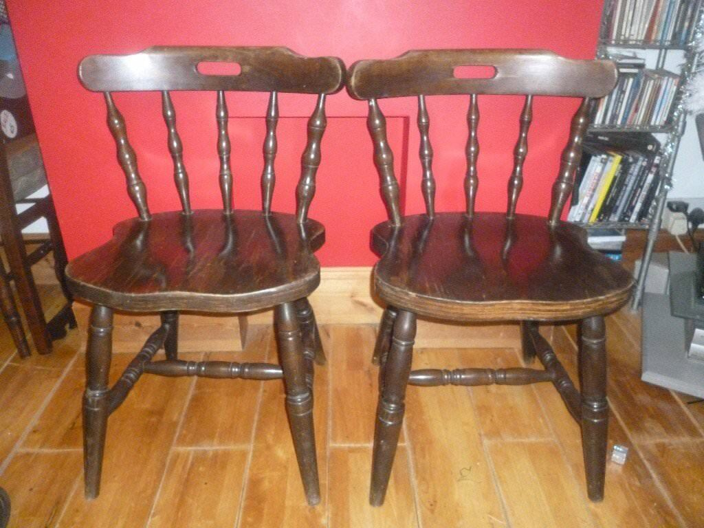Pair of oak chairs £18 for pair or £9 each )