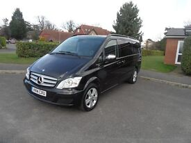 Mercedes Benz .Viano Ambiente 2.2CDi Long Automatic,8seater, 2004/14reg, 1owner, black/black leather