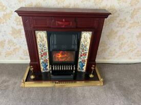 Electric fireplace w/ electric fire