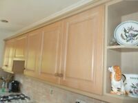 Complete kitchen and work tops excluding appliances in good condition.