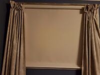 Brand New Ivory Roller Blind (Blinds Direct) 140cm width x 102cm drop with White RH Control Chain