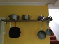 Pots and pans rack.