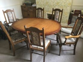 Dining Table and 6 chairs excellent condition offers over £100 will have to collect from Blackhill