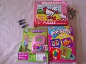 Toy Bundle Nearly New Boxed WILL POST Leapfrog Learn n groove music player + Hello Kitty puzzle +
