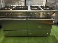 Stunning lacanche Chalonnais Range cooker ouble oven 140cm with Extractor