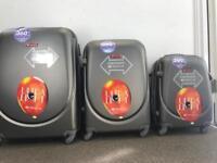 3xSuitcase M L XL 40/78/124 Liters Hard & Flexible Case Luggage Travel Bags, 360⁰ Rotation Wheels