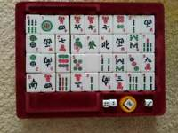 A Fabulous Game of Mah Jongg Perfect unused condition 144 beautiful tiles. Compact game for holiday