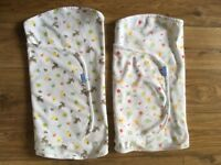 2 x Gro Company swaddle blankets (newborn, up to 3 months / 14 lbs) - Very Good Condition