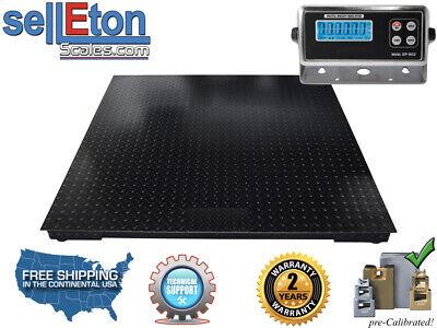 Industrial Floor Scale Pallet Scale Metal Indic 10000 Lb X 1 40 X 40