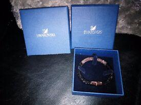 Swarovski Black and Rose Gold Stardust bracelet