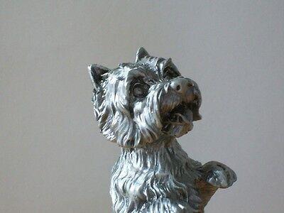 Faithful Friends Westie West Highland White Terrier Begging Pewter UK