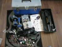 DREMEL 300 Rotary Multi Tool With Hard Case + multi vise and flexi shaft, loads of accessories