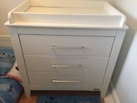 Mamas & papas coastline 3 drawer chest with top changer.