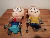 South Park, official, rare and collectable Timmy & Jimmy Talking Plush-style Soft Toys