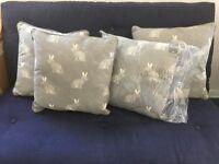 Raine and Humble hare cushions