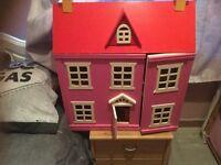 Pink dolls house