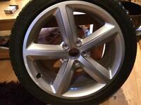 "18"" audi alloy and tyre"