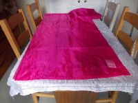 Ikea sheer red curtains 10 foot x5ft as new
