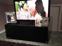 Black high gloss besta ikea TV unit