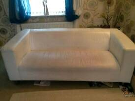 3 Seater Leather Settee £40