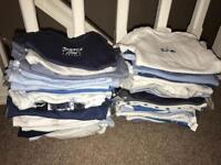 Baby boy 0-3 months vest bundle