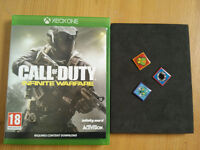 Xbox One Call of Duty Infinite Warfare with Zombie Pin Badges in mint condition not ps4