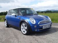 2005 MINI COOPER 1.6 BLUE PETROL STUNNING CAR MOT MAY 17 89,000 MILES £3495 OLDMELDRUM