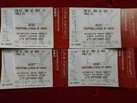 X2 ALL DAY CHAMPIONS LEAGUE DARTS FINAL TICKETS 1PM & 6:30PM MVG GARY ANDERSON PHIL TAYLOR P WRIGHT