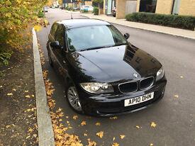 2010 BMW 1 SERIES 116D 2.0 LITRE DIESEL, BLACK, £30 TAX, SATNAV, BLUETOOTH!