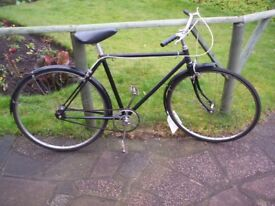"Vintage Single Speed Bike, 18"" frame, 26"" wheels, fast, light, reliable - Made in England"