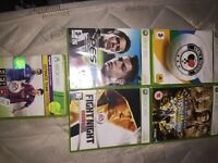 5 Xbox 360 games used condition pick up only