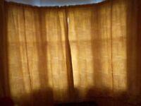 Cotton Curtains - Heavyweight - fit tenement bay window