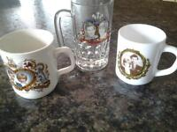 4 Glass Tankards of The Marriage of the Prince of Wales and Lady Diana Spencer.