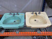 Art Deco Basins Matching Pair