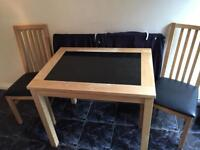 Marble kitchen/dining table (2 chairs)