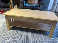 John Lewis wooden coffee table with shelf