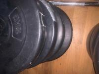 """Weight plates 4x10kg 1"""" standard"""