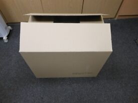 10 brand new cardboard boxes ideal for moving home 24 ins wide x 18 high x 15.5 ins deep