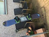 155 Snowboard for sale with Bindings