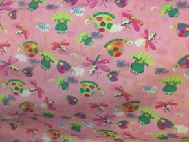 3 metres of 100% cotton fabric, various colours and prints please see photos