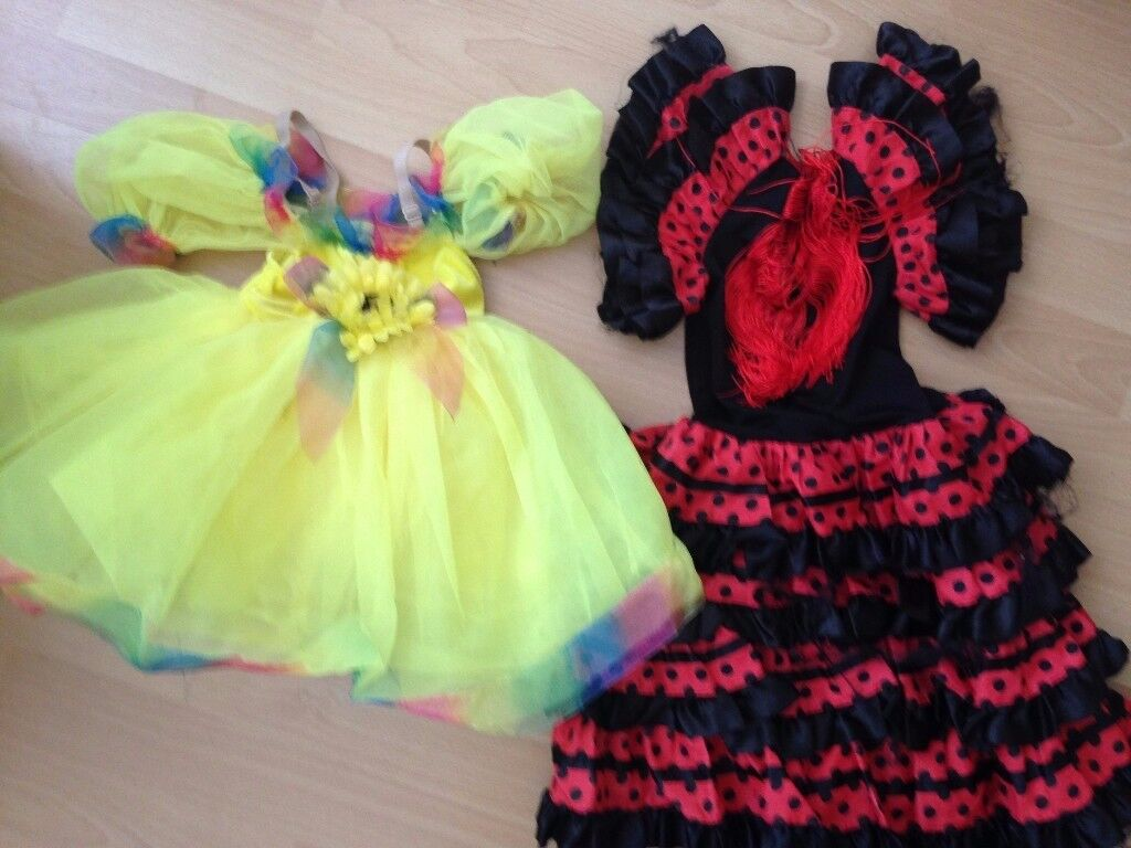 2x Children Fancy Dress Costumes Girls Costumes 3-5 years