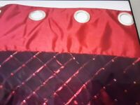 Pair 66x90 red curtains