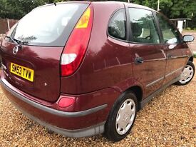 NISSAN ALMERA TINO!!! 59000 MILES FROM NEW!!!