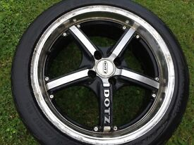 """17""""alloys with tyres"""