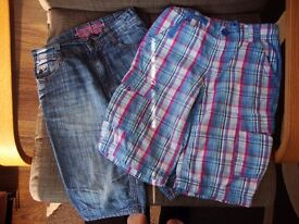 2 Pairs of Shorts Age 7-8 from Marks & Spencer and Mothercare