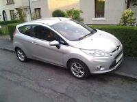 2012 62 plate Ford Fiesta Zetec 1.25 3dr Silver