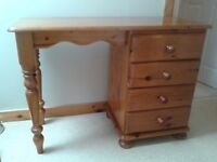 FOR SALE - PINE DRESSING TABLE, PINE DOUBLE BED HEADBOARD, PINE CHEVAL MIRROR