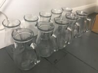Job lot 18 x 1 litre water jugs for event or wedding, only used once!