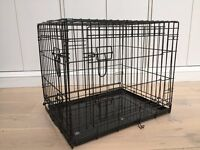 Small Dog Crate (black with two doors and collapsable)