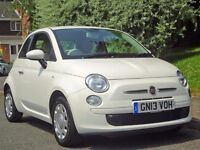 White2013 Fiat 500 1.2POP Petrol, High Spec, 3dr (start/stop), £30 TAX, LADY OWNER,28K MILES ONLY